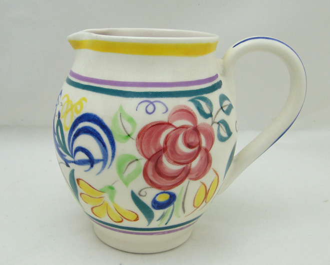 A Poole Pottery  Hand Painted Traditional Jug In LE Pattern