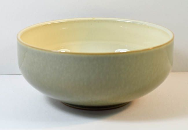 Denby Pottery Fire Green Soup/Cereal Bowls