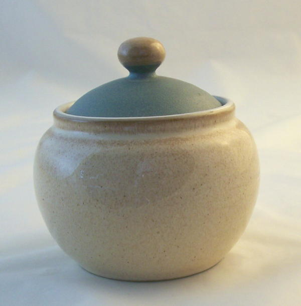 Denby Pottery Luxor Lidded Jam/Sugar Bowl