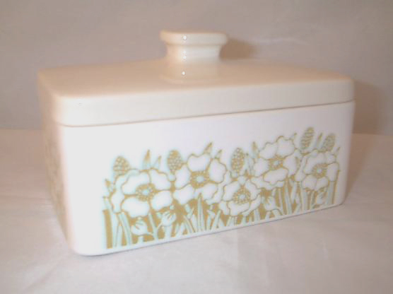 Hornsea Pottery Fleur (Green) Butter Dishes