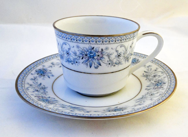 Noritake Blue Hill (2482) Demitasse Coffee Cups and Saucers