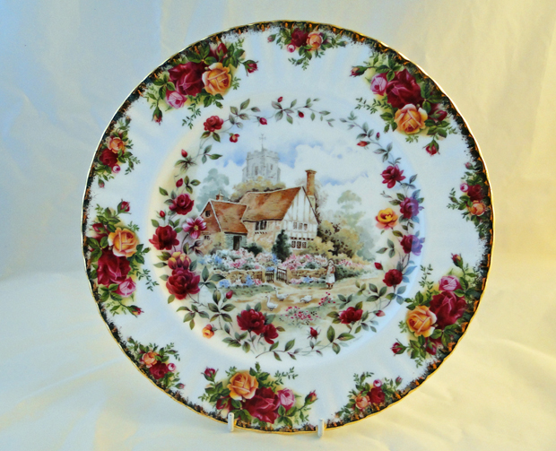Old Country Roses Cottage Decorative 10 25 Inch Plate From