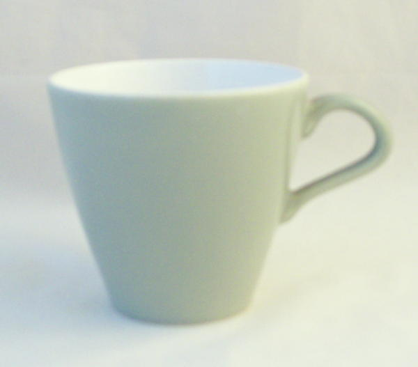 Poole Pottery Cameo Celadon Standard Tall Style Cups (Contour Shape)