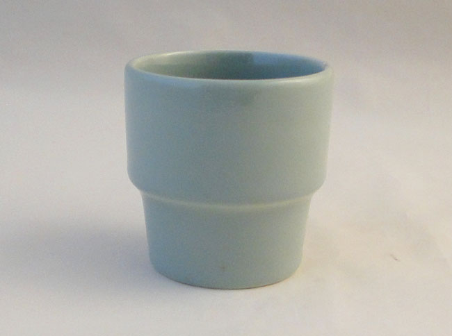 Poole Pottery Celadon Contour Shaped Egg Cups