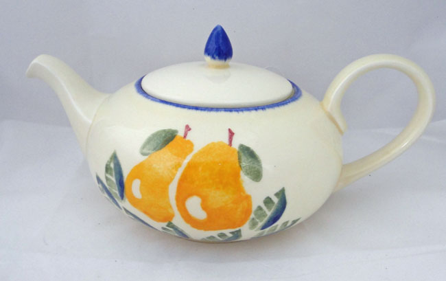 Poole Pottery Dorset Fruit Tea Pots, (Pears)