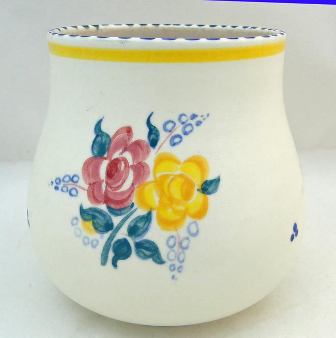 Poole Pottery Hand Painted Traditional Vase In The Bf Pattern
