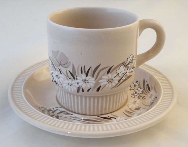 Poole Pottery Mandalay Demi Tasse Coffee Cups And Saucers