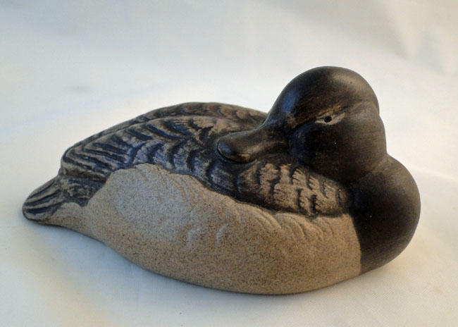Poole Pottery Stoneware Decoy Duck, Tufted