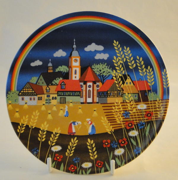Poole Pottery Transfer Plate, 426 Summer II