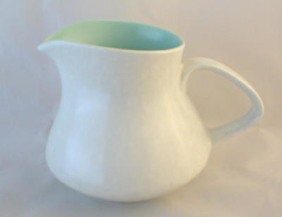 Poole Pottery Twintone Ice Green and Seagull Contour Milk Jugs