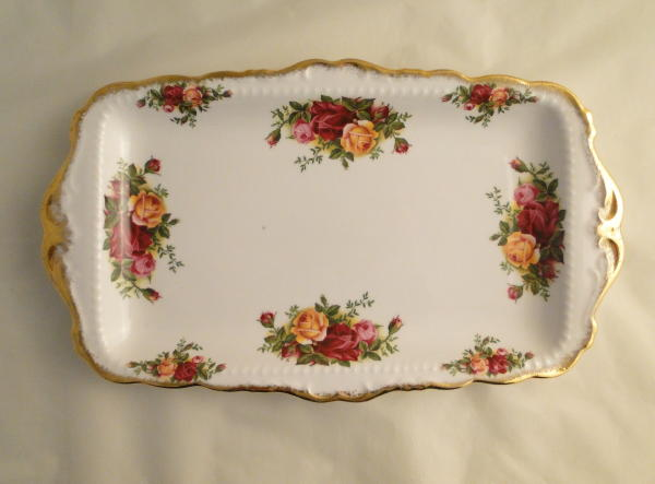 Royal Albert Old Country Roses Sandwich Plates . & Royal Albert Old Country Roses Sandwich Plates