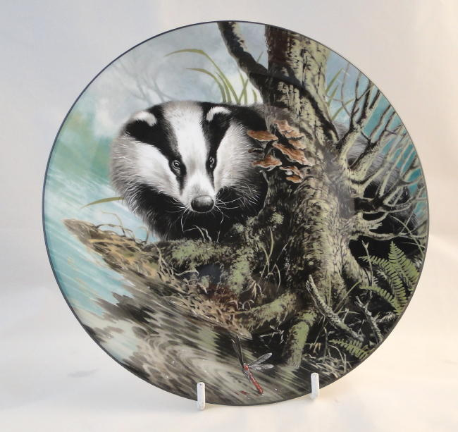 "Wedgwood, Plate Depicting a Badger, ""I Spy"